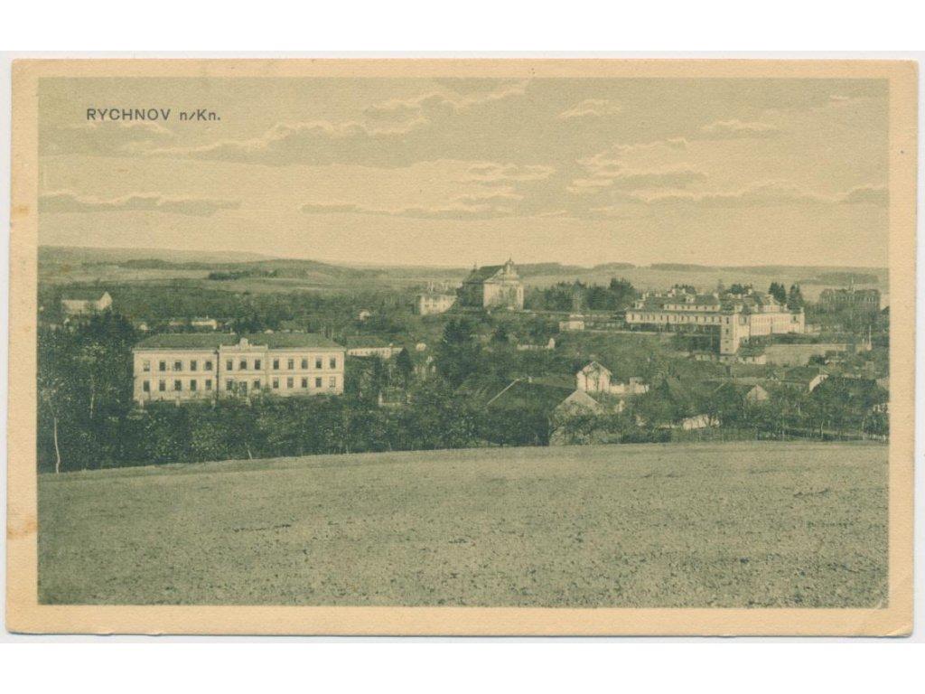 57 - Rychnov nad Kněžnou, pohled na město, nákl. J. Bárta, cca 1928