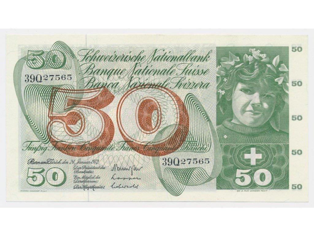 Švýcarsko, 50 Franků, 1972, pěkný stav 1
