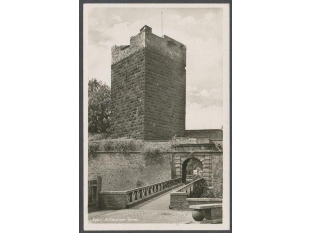 08 - Cheb (Eger), Černá věž (Schwarzer Turm), nakl. Weber & Co., cca 1940