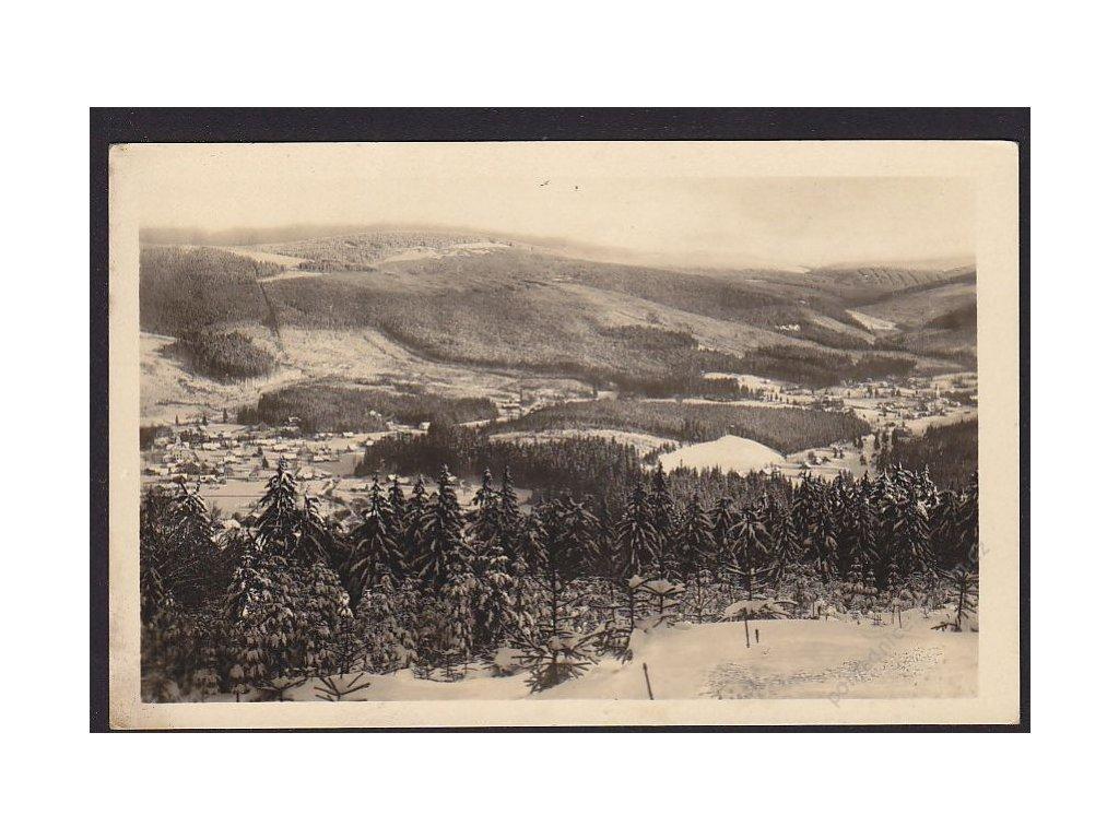 66 - Trutnovsko, Krkonoše, Harrachov, Nový Svět, nakl. Civín, foto Kuberka, cca 1945