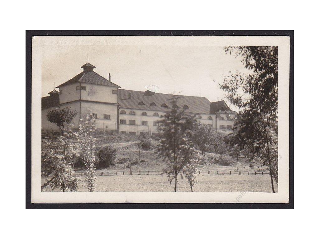67 - Třebíčsko, Moravské Budějovice, sokolovna, foto Fon, cca 1937