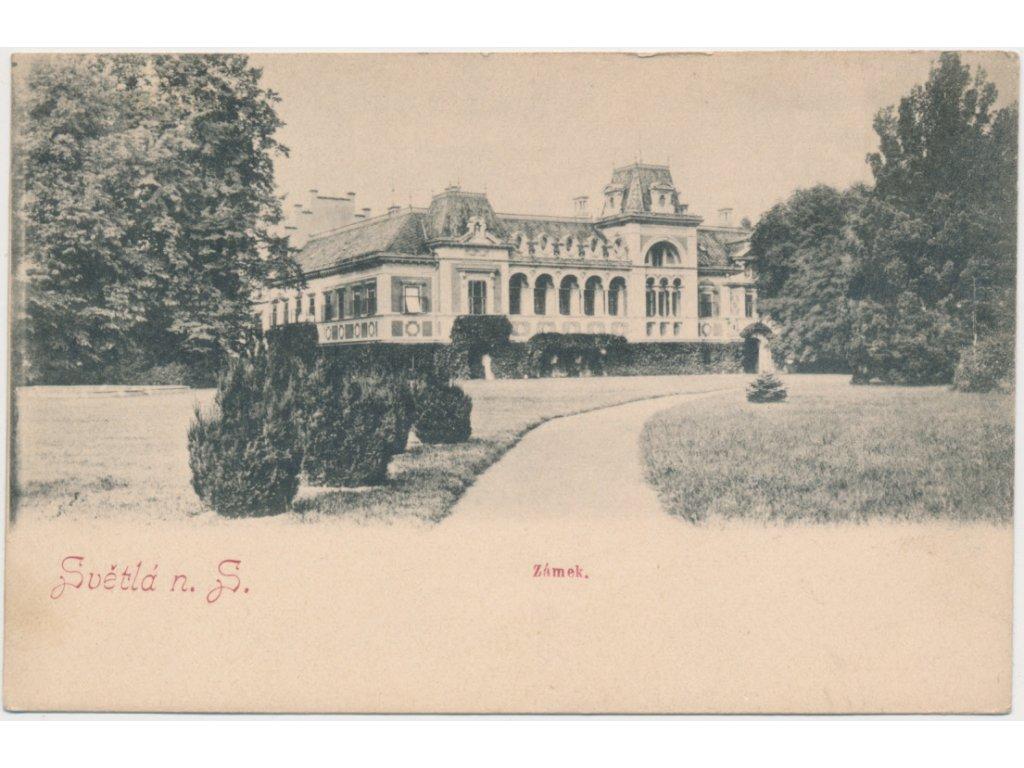 17 - Havlíčkobrodsko, Světlá nad Sázavou, Zámek se zámeckou zahradou