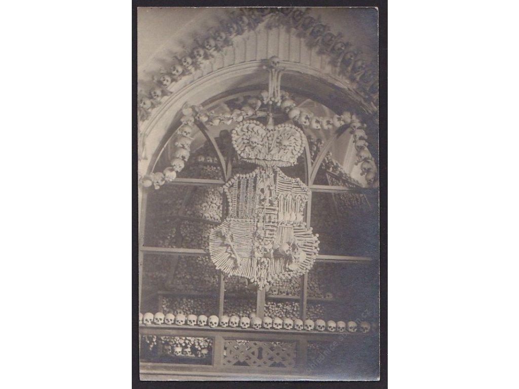 31 - Kutnohorsko, Sedlec, kostnice, cca 1930