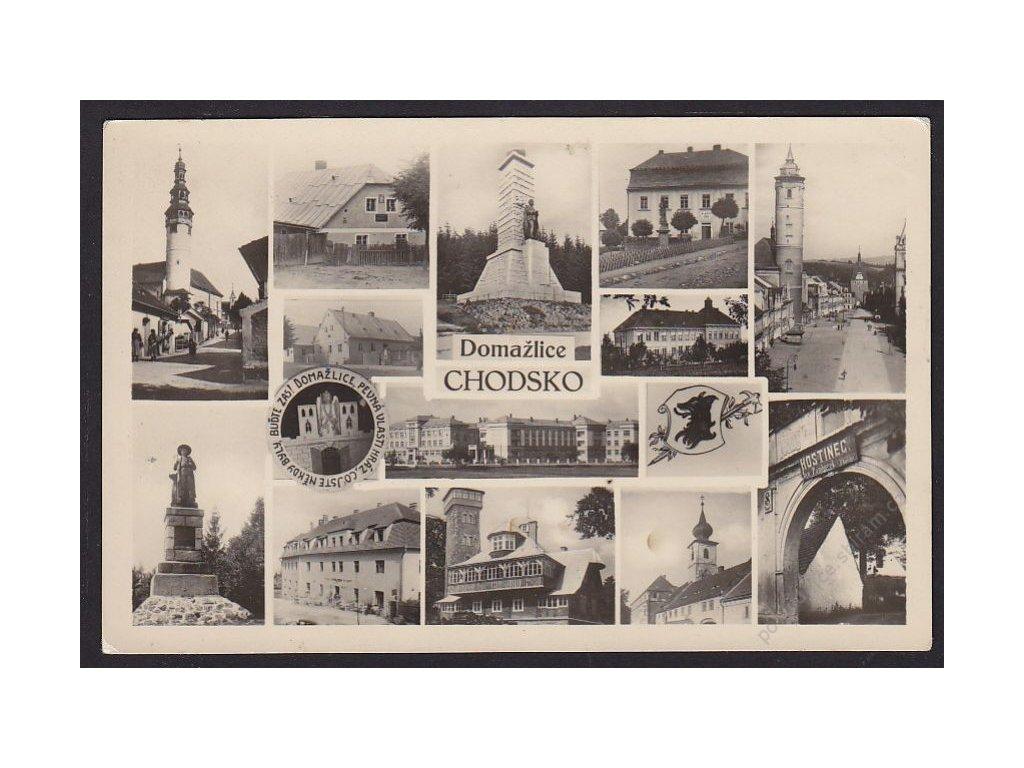 15 - Domažlice, Chodsko, části města, foto Švec, cca 1940