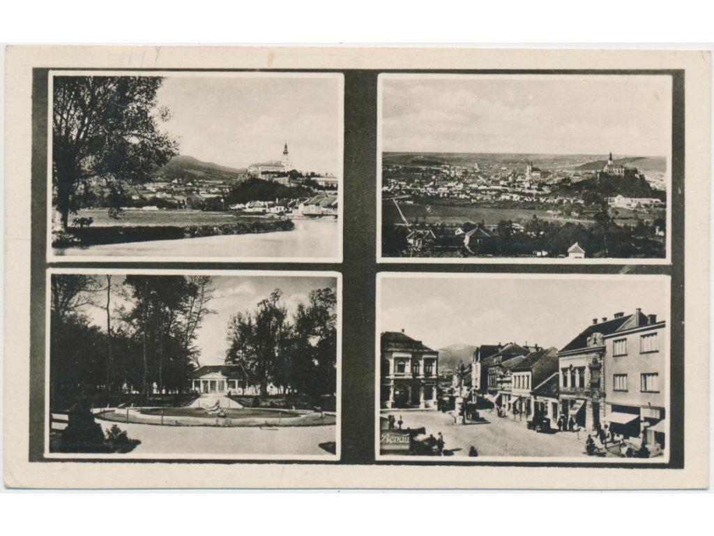 Slovensko, Nitra, 4 - záběr města, celk. pohled, náměstí..., cca 1947