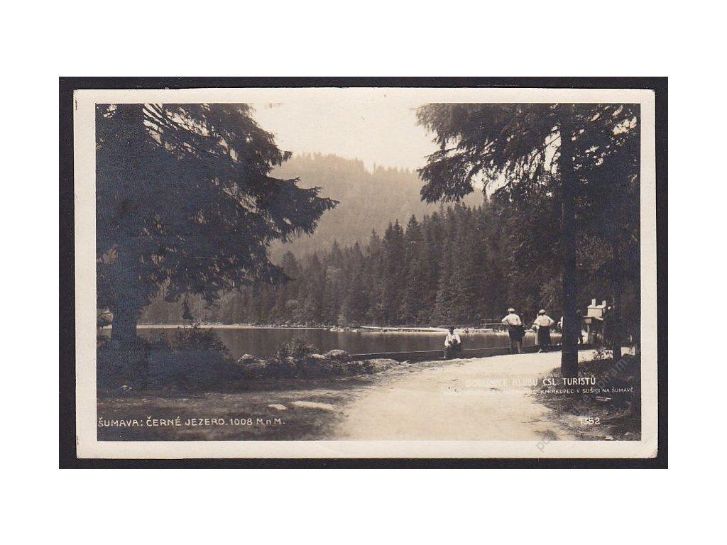 28 - Šumava, Černé jezero, nakl. Klub ČSL turistů, foto Fon, cca 1922