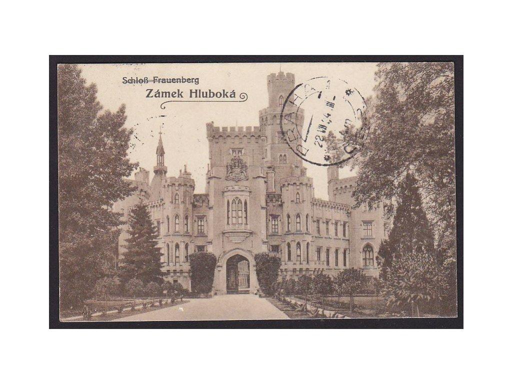 12 - Českobudějovicko, zámek Hluboká, (Schloss Frauenberg), cca 1922