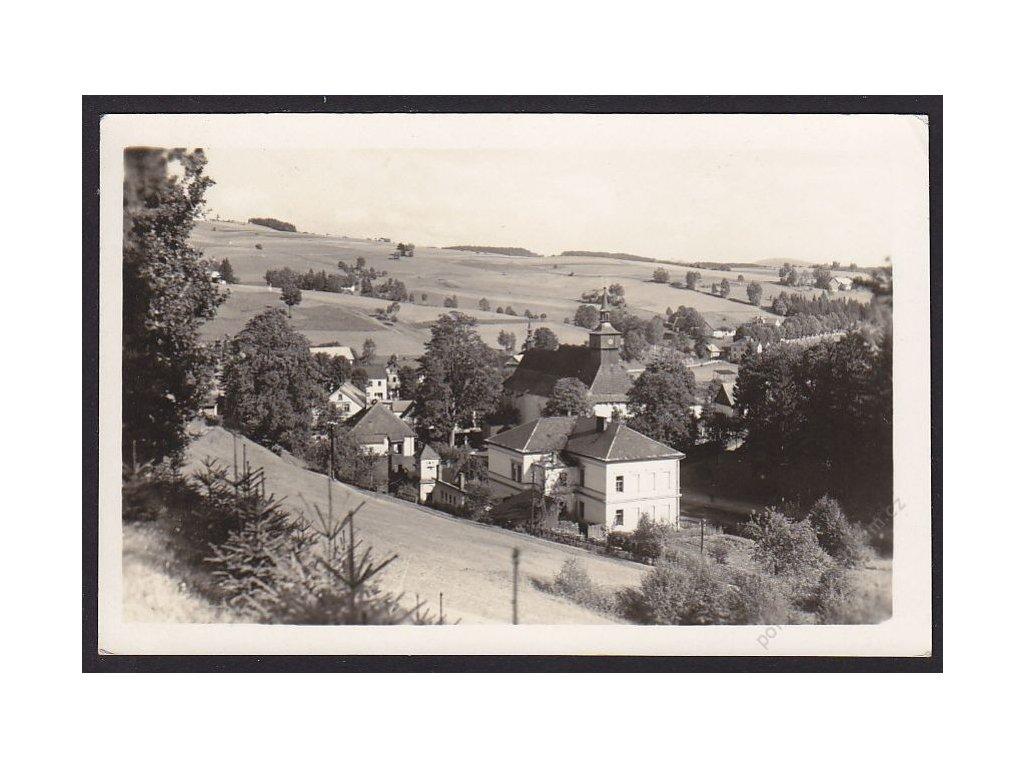70 - Ústeckoorlicko, Klášterec nad Orlicí, celkový pohled, cca 1945