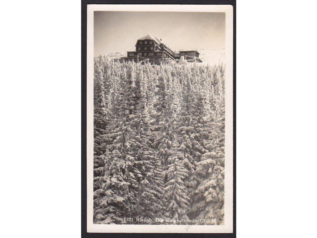 66 - Krkonoše, Hampelbaude, nakl. WW, cca 1940