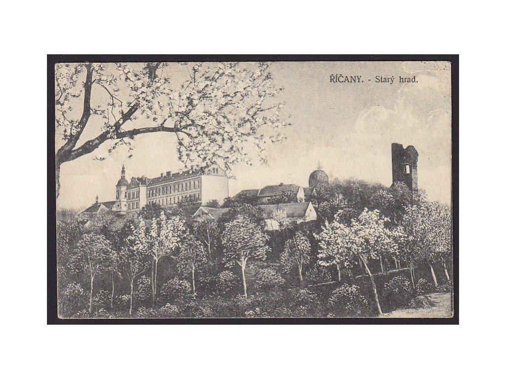 58 - Semilsko, Říčany, Starý hrad, nakl. Zuna, cca 1918