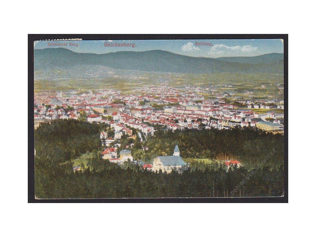 """32 - Liberec (Reichenberg), celkový pohled, nakl. Seibt, """"Photochromie"""", cca 1918"""