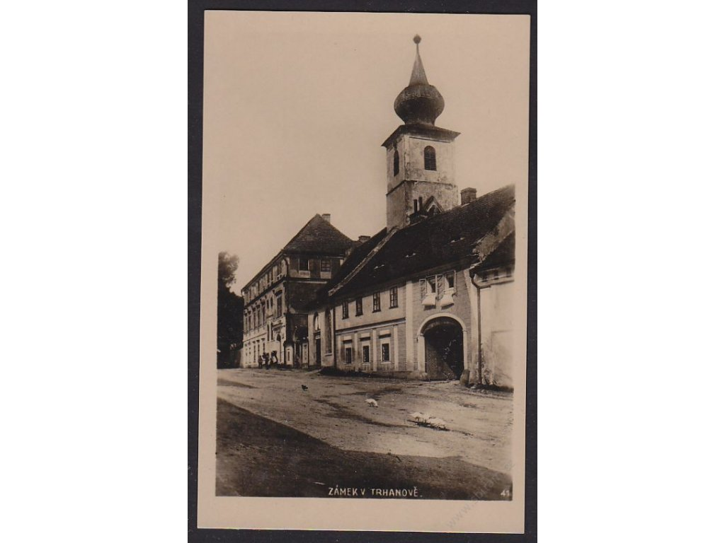 15 - Domažlicko, Trhanov, zámek, nakl. Rybařík, cca 1930