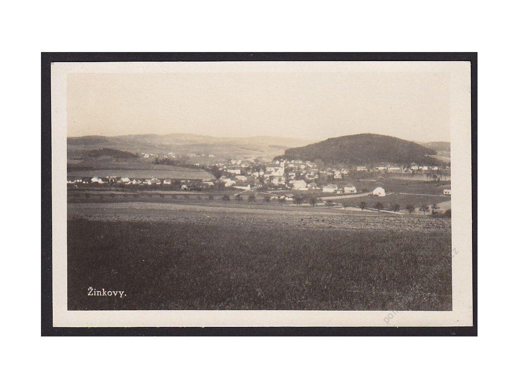 47 - Plzeňsko, Žinkovy, celkový pohled, cca 1943