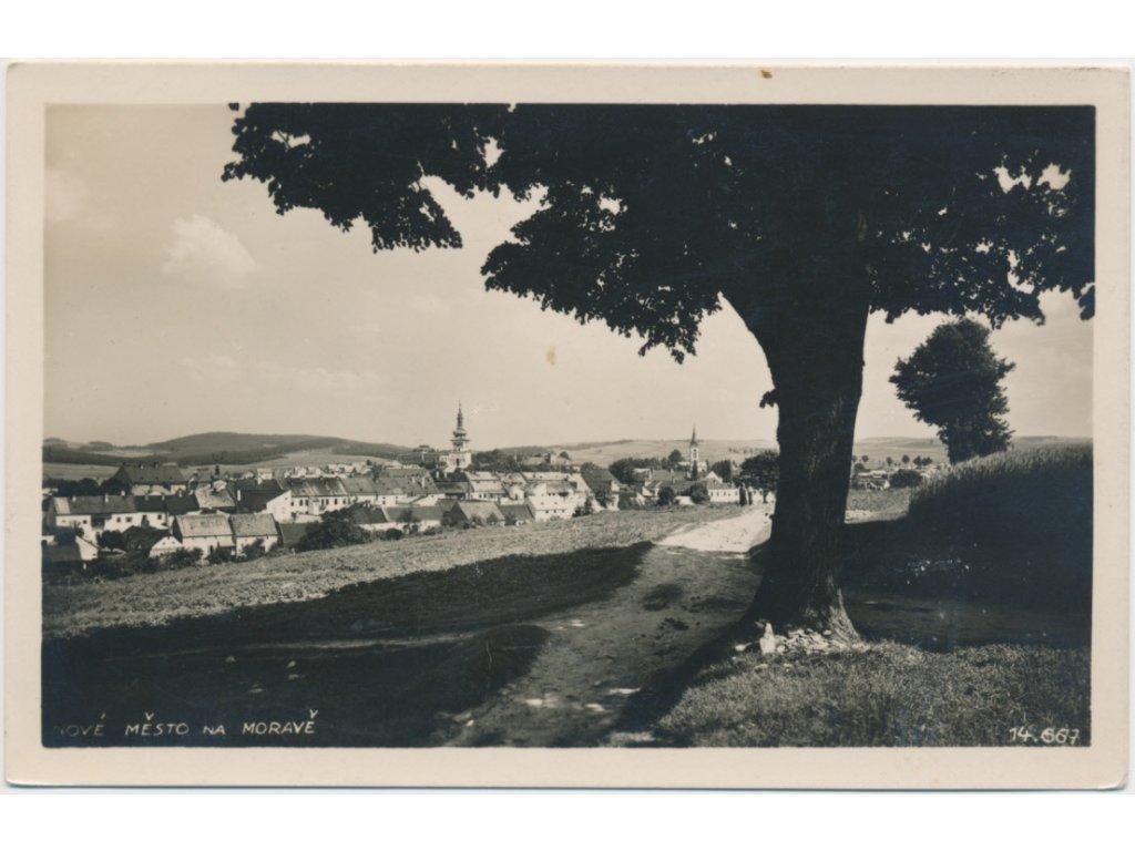 75 - Žďársko, Nové Město na Moravě, pohled na město, cca 1931