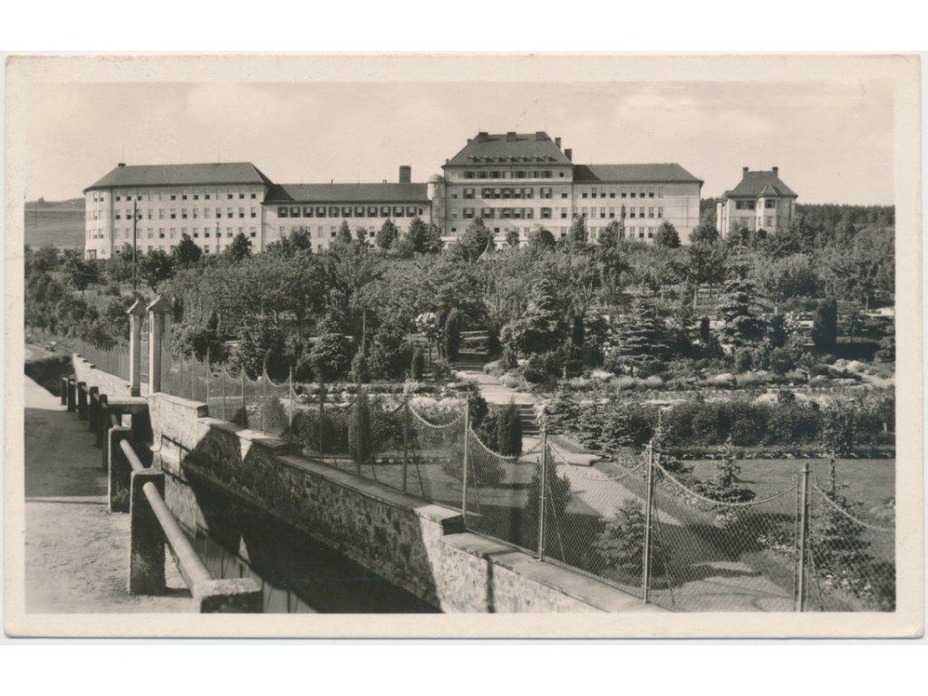 """75 - Žďársko, Velké Meziříčí, Dívčí ústavy """"Světlá"""", Grafo Čuda, cca 1930"""