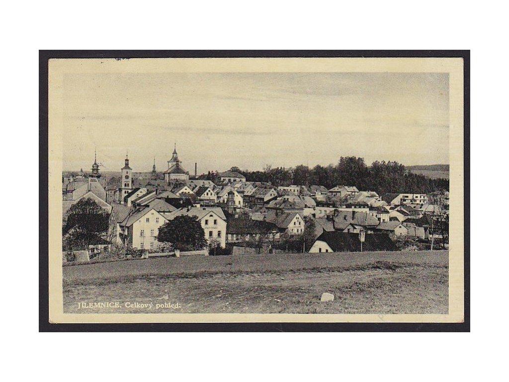 58 - Semilsko, Jilemnice, celkový pohled, nakl. Skřivan, cca 1939