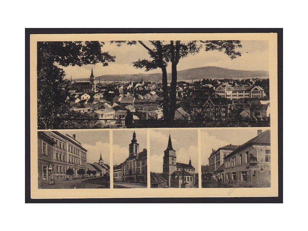 56 - Rokycany, části města, cca 1930