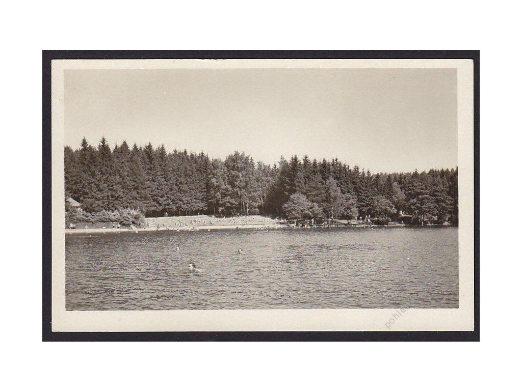 25 - Karlovarsko, Děpoltovice, Vzlet, koupaliště, nakl. Orbis, cca 1948