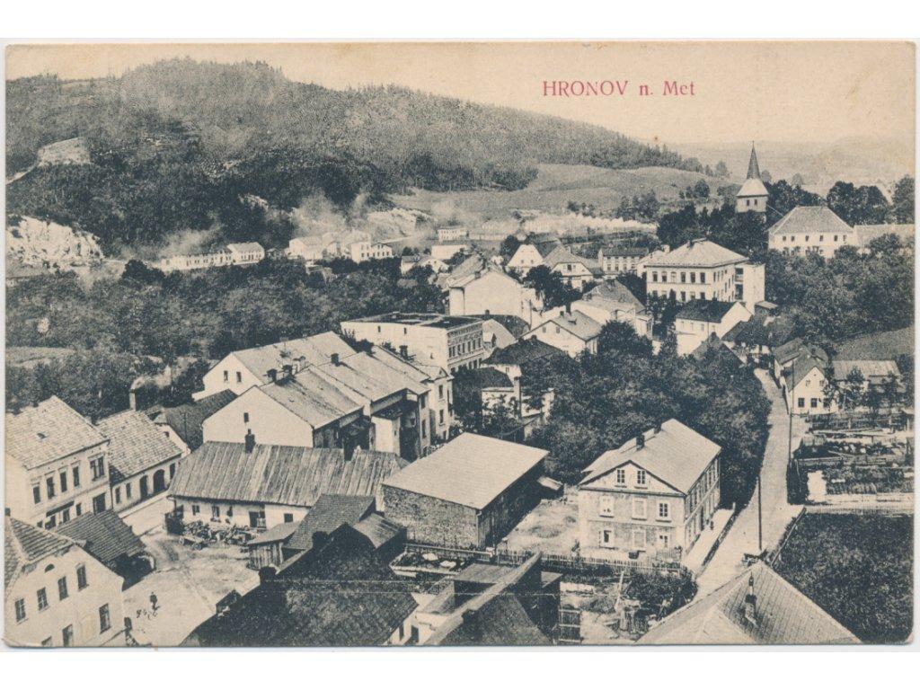 38 - Náchodsko, Hronov, celkový pohled na město, cca 1909