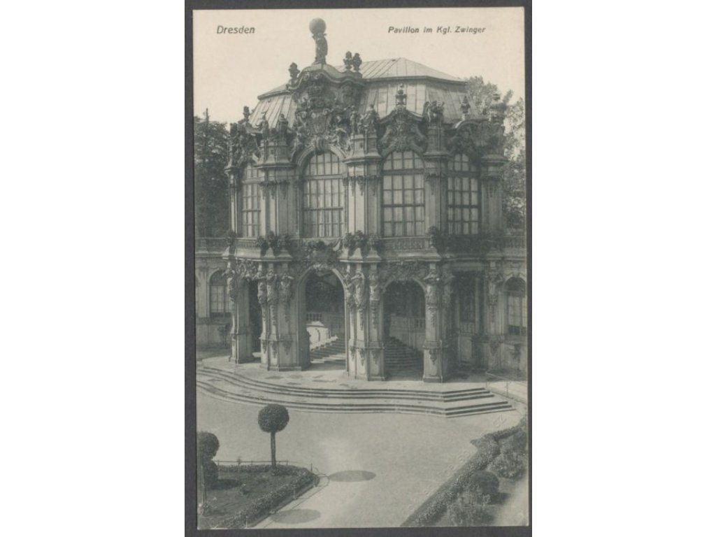 Germany, Free state of Saxony, Dresden, Pavilion at the Zwinger palace, cca 1908