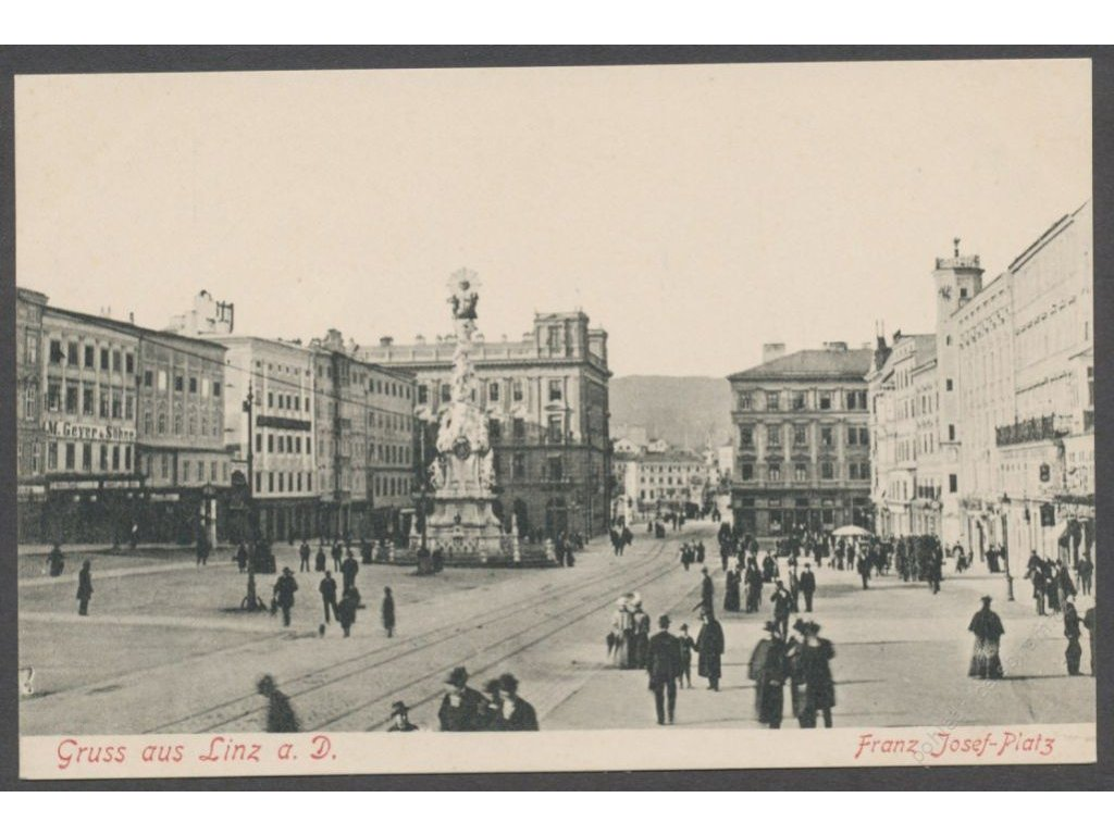 Austria, Upper Austria, Linz, Franz Josef square, publ. Schleich, cca 1906