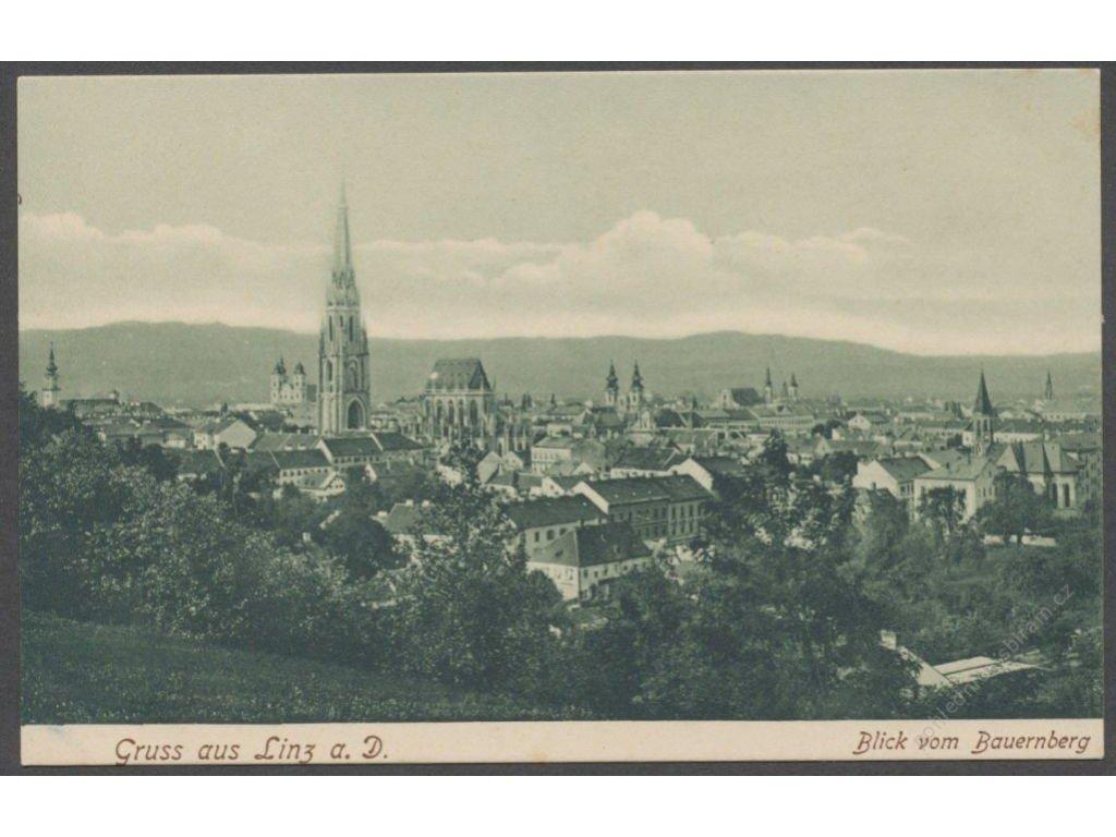 Austria, Upper Austria, Linz, overview from Bauernberg, publ. Schleich, cca 1906