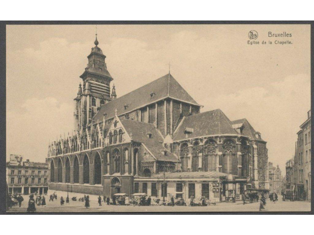Belgium, Brussels, Église Notre-Dame de la Chapelle, publ. Thill, cca 1910