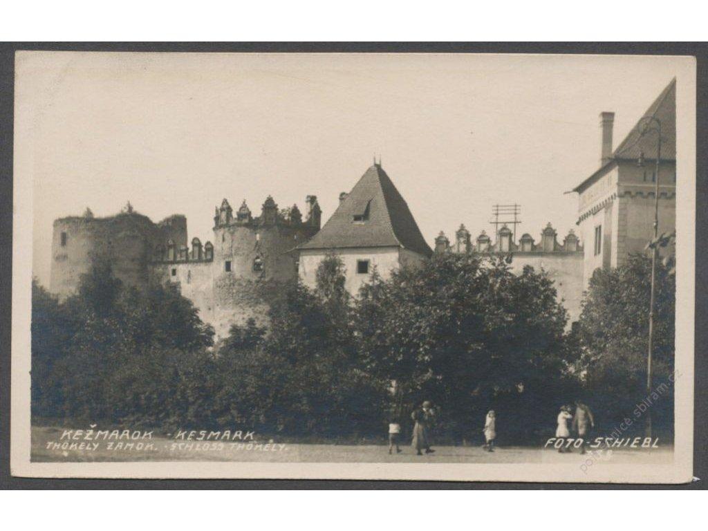 Slovensko, Spiš, Kežmarok, Kežmarský zámok, foto Schlebl, cca 1920