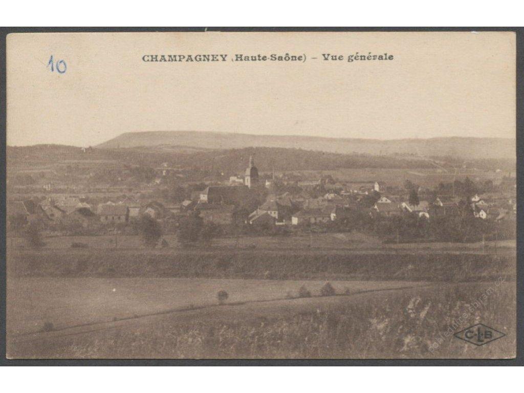 France, Champagney, Haute-Saône, overview, publ. Lardier, cca 1920