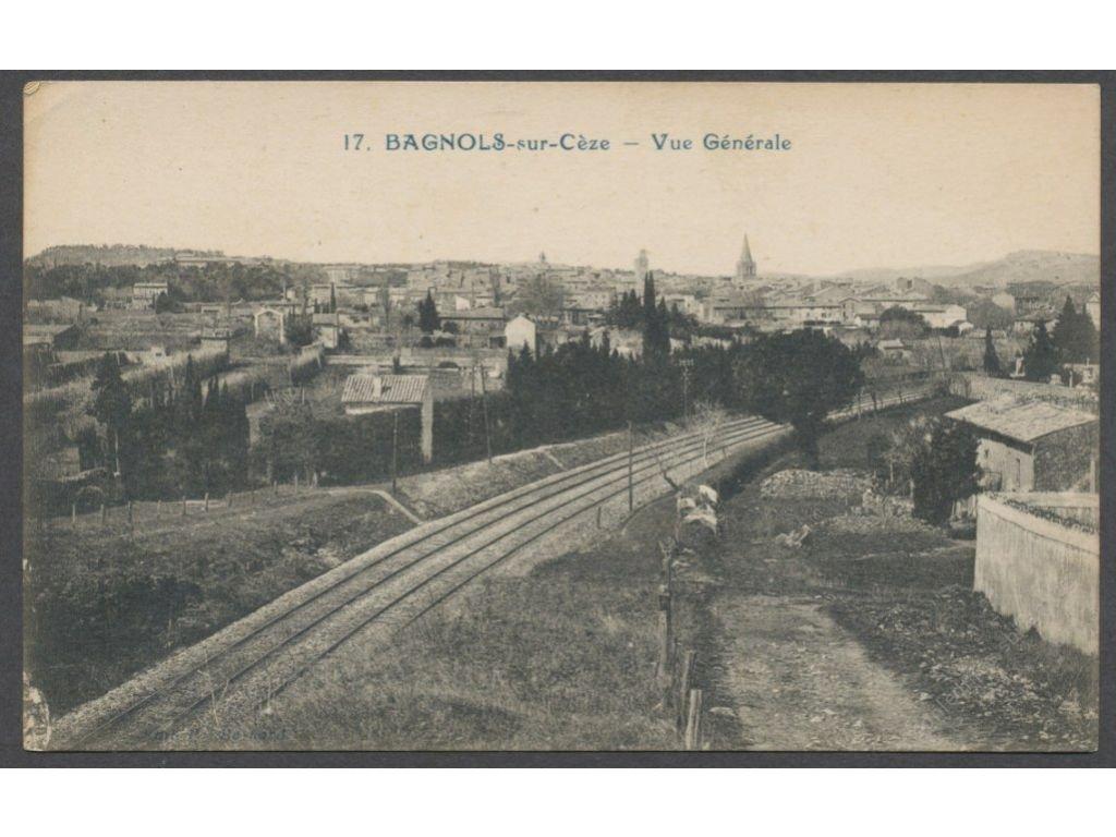 France, Languedoc-Roussillion, Gard, Bagnols-sur-Céze, overview, cca 1925