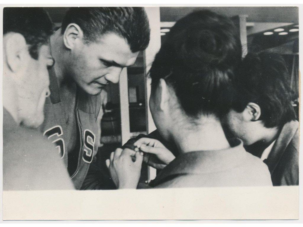 Kment Petr (1942-2013), zápasník, oficiální foto ČTK z OH v Tokiu 1964