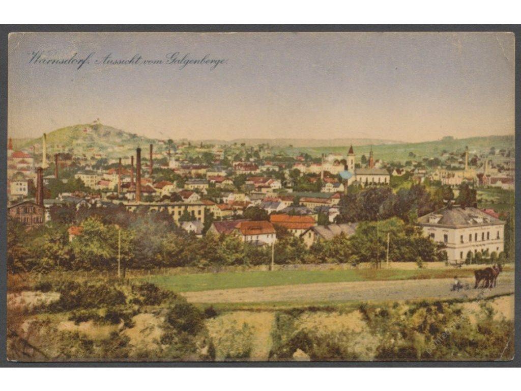 14 - Děčínsko, Varnsdorf (Warnsdorf), celkový pohled, nakl. Strache, cca 1910