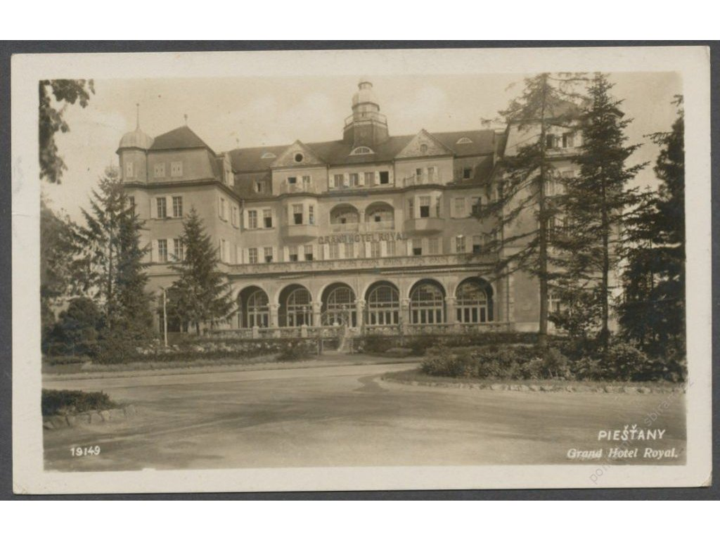 Slovensko, Piešťany, Grand Hotel Royal, nakl. Herzog, cca 1936