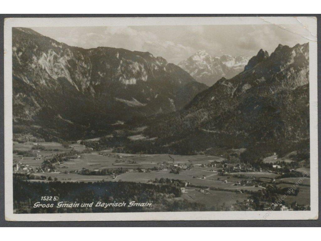 Germany, Bavaria, Berchtesgadener, Bayerisch Gmain and Gross Gmain, publ. Zieher, cca 1937