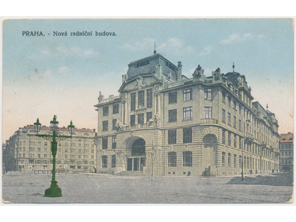 49 - Praha, Nová radniční budova, cca 1918