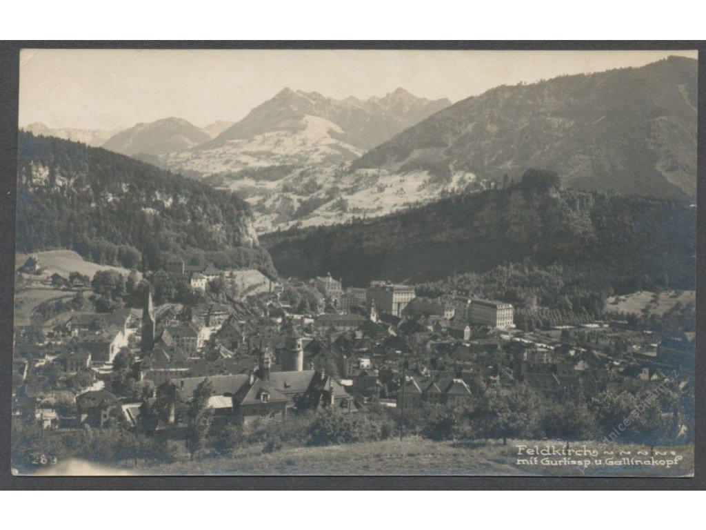 Austria, Vorarlberg, Feldkirch, overview, publ. Nipp, cca 1927