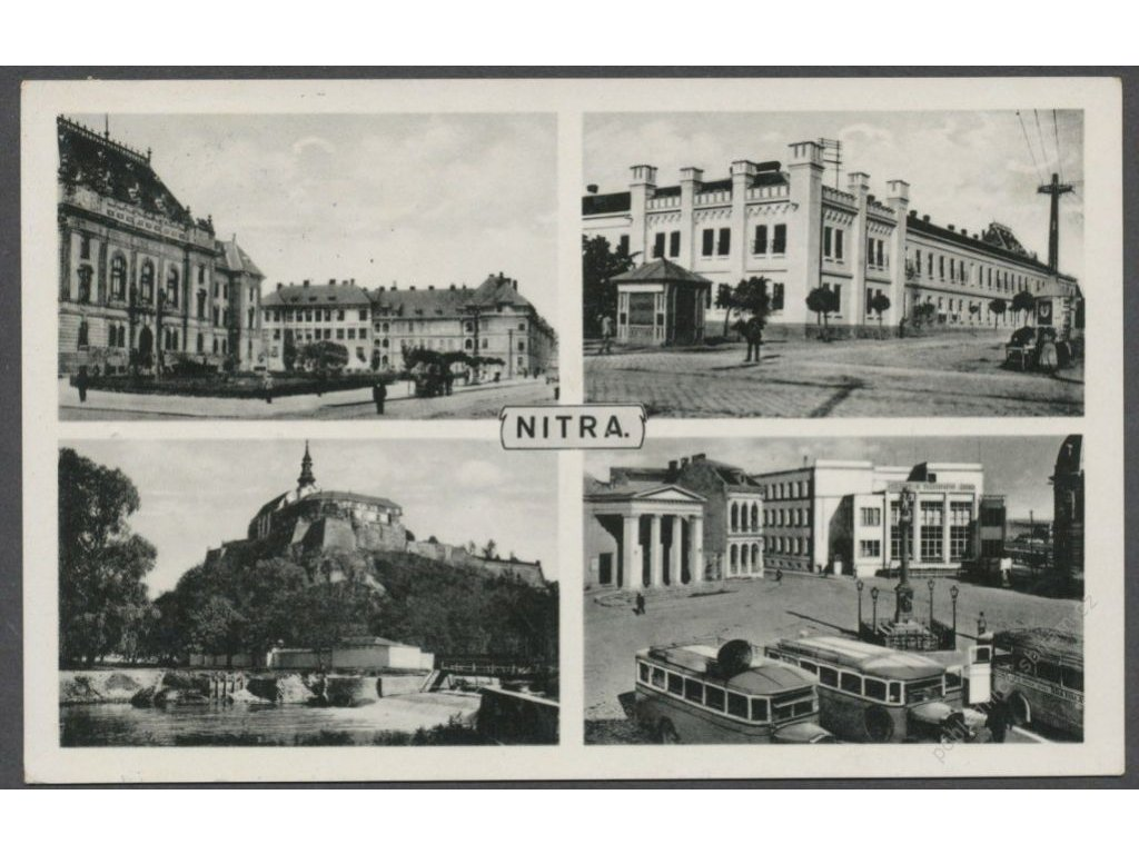 Slovensko, Nitra, části města, cca 1937