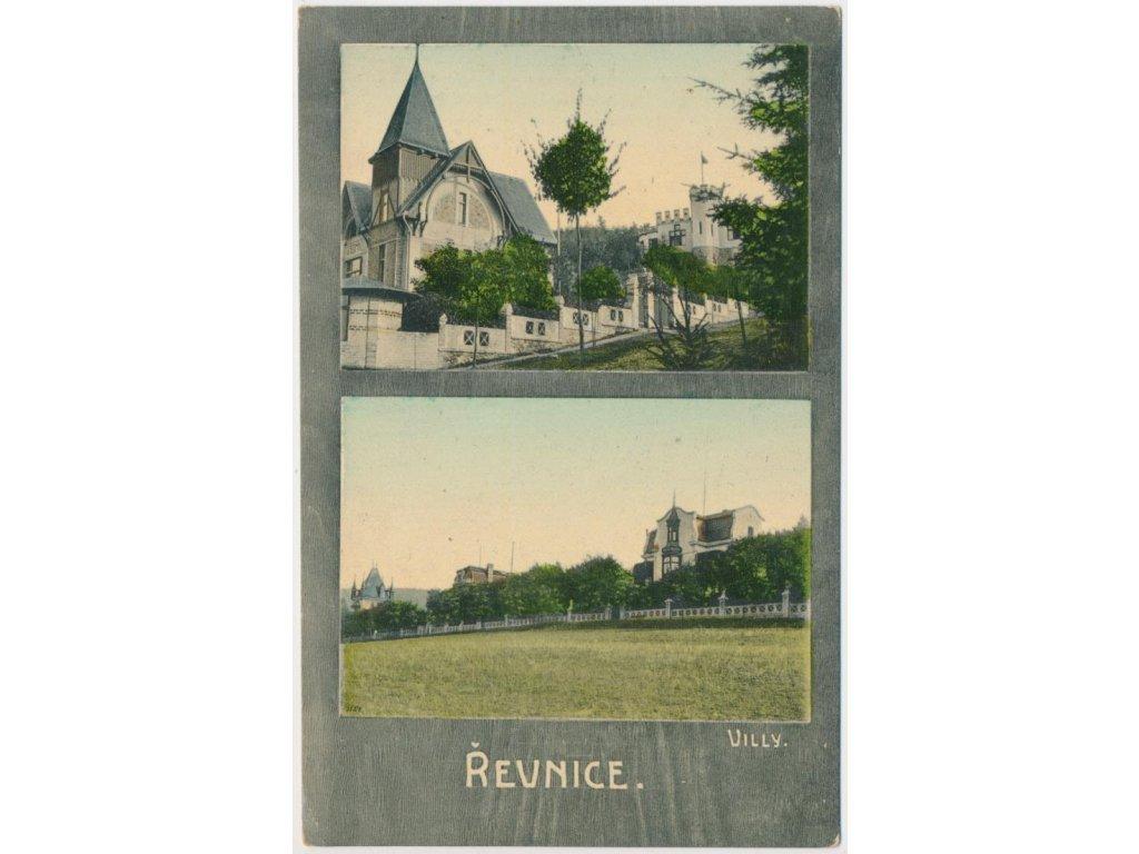 51 - Praha - západ, Řevnice, 2 - záběr, pohled na villy, cca 1909