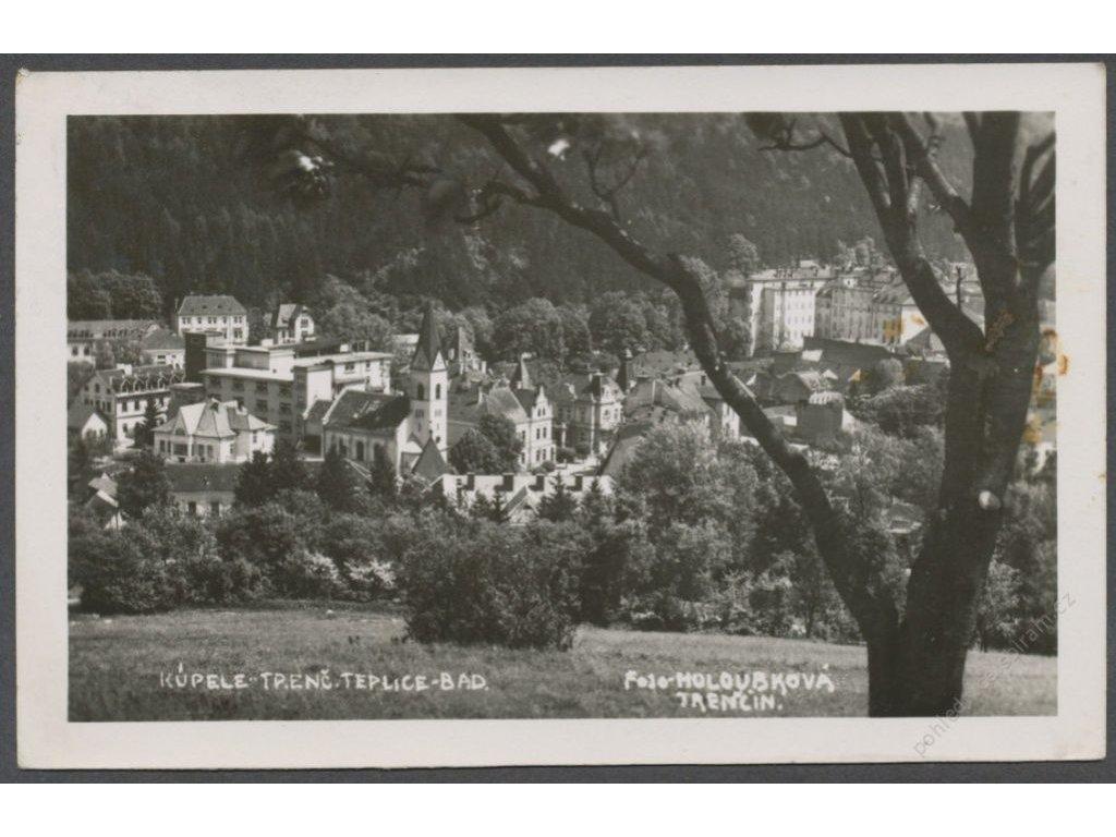 Slovensko, Trenčianske Teplice, kúpele, foto Holoubková, cca 1936