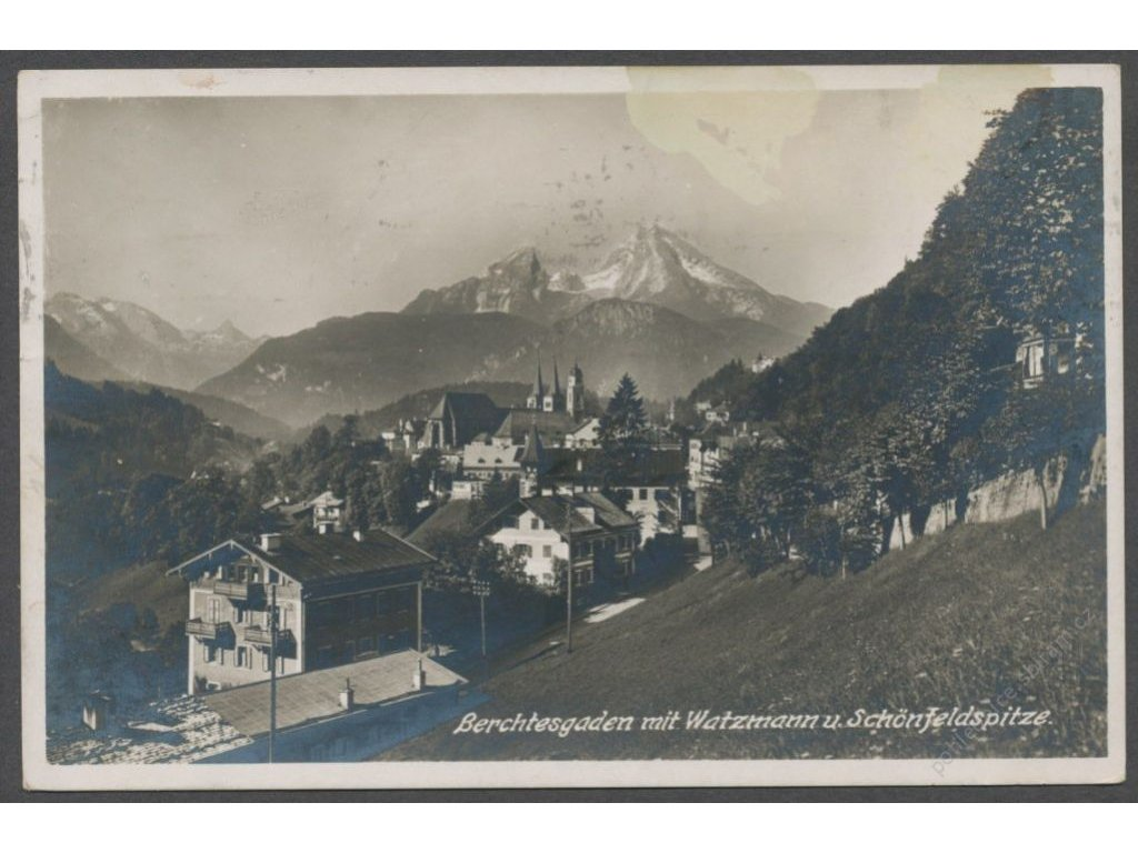 Germany, Bavarian Alps, Berchtesgaden with mountain Watzmann, publ. Zieher, cca 1921