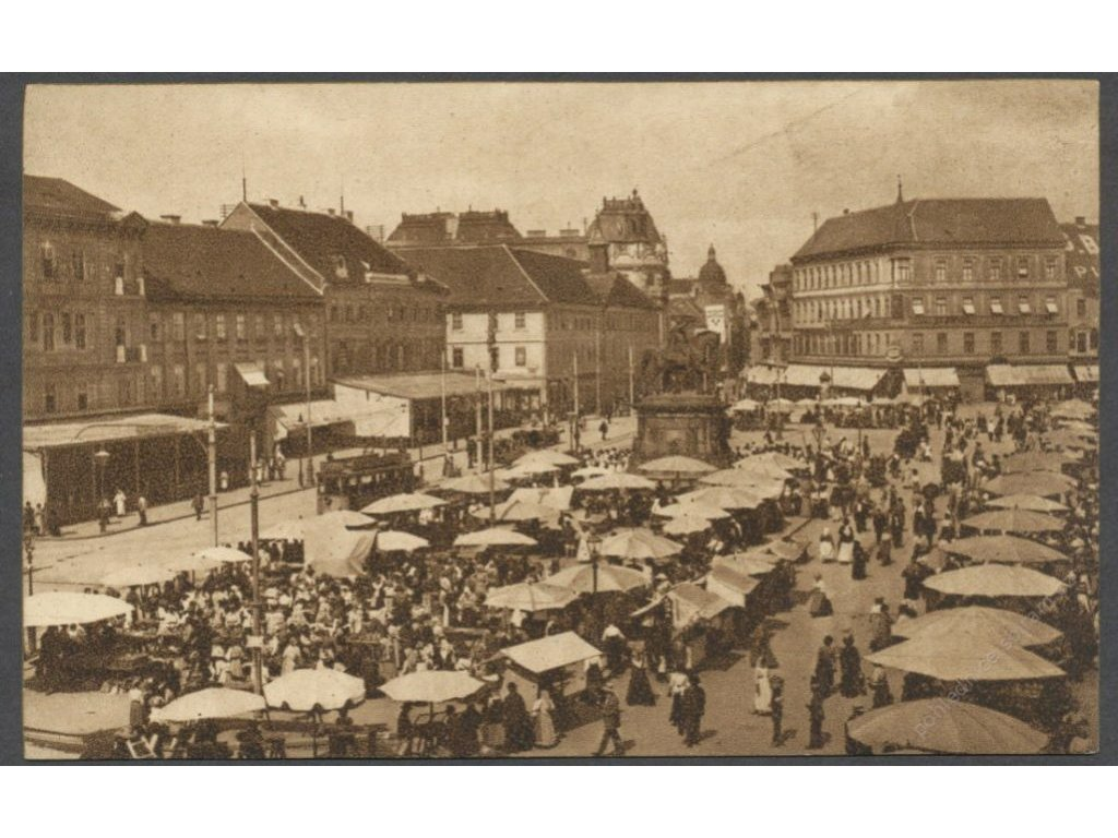 Croatia, Zagreb, Ban Jelačić Square, foto Čaklovič, cca 1922