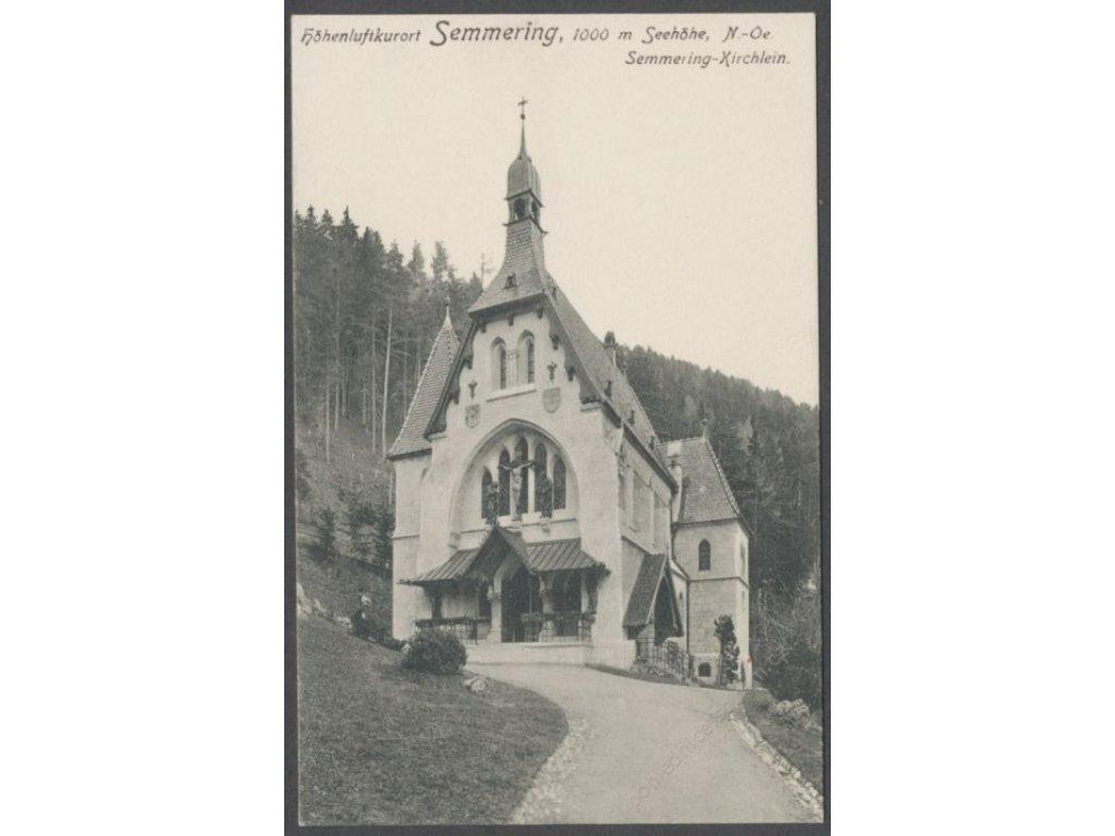 Austria, Lower Austria, Semmering, church (altitude 1000m), publ. Ledermann, cca 1909