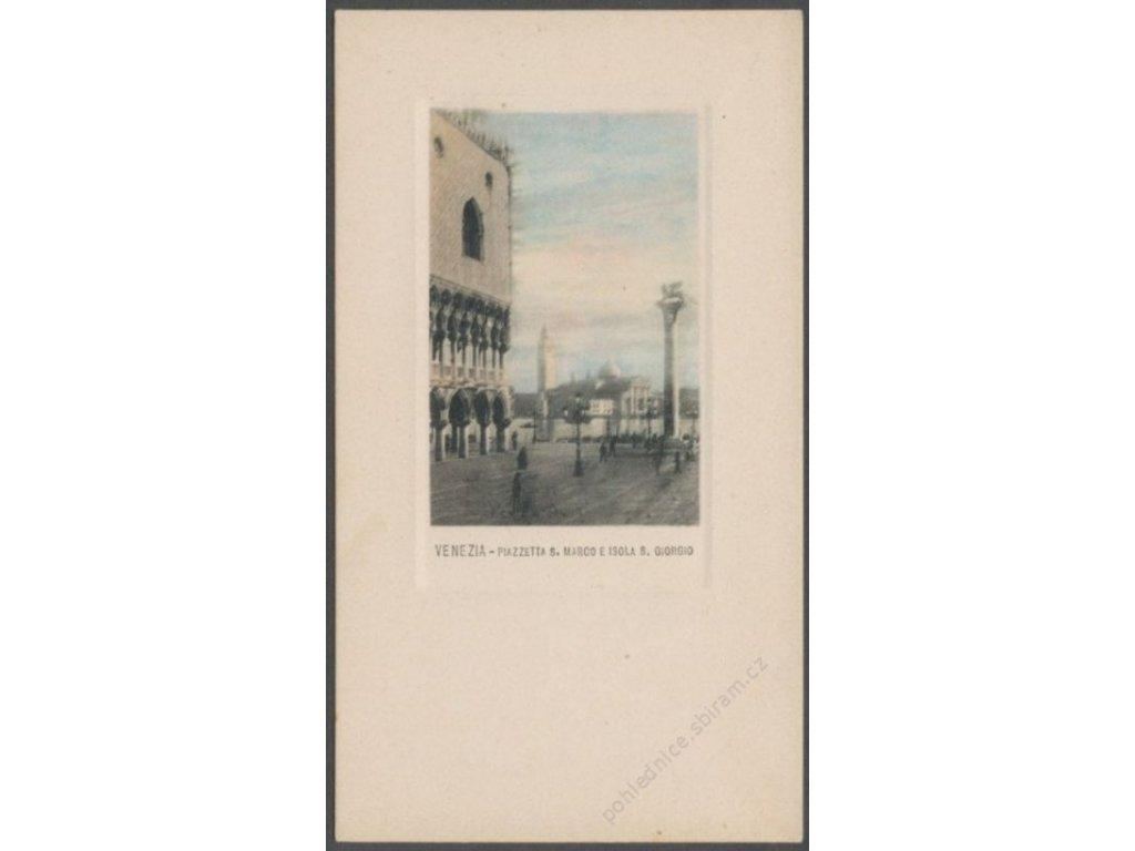 Italy, Venice, Piazza San Marco and San Giorgio Maggiore, cca 1906