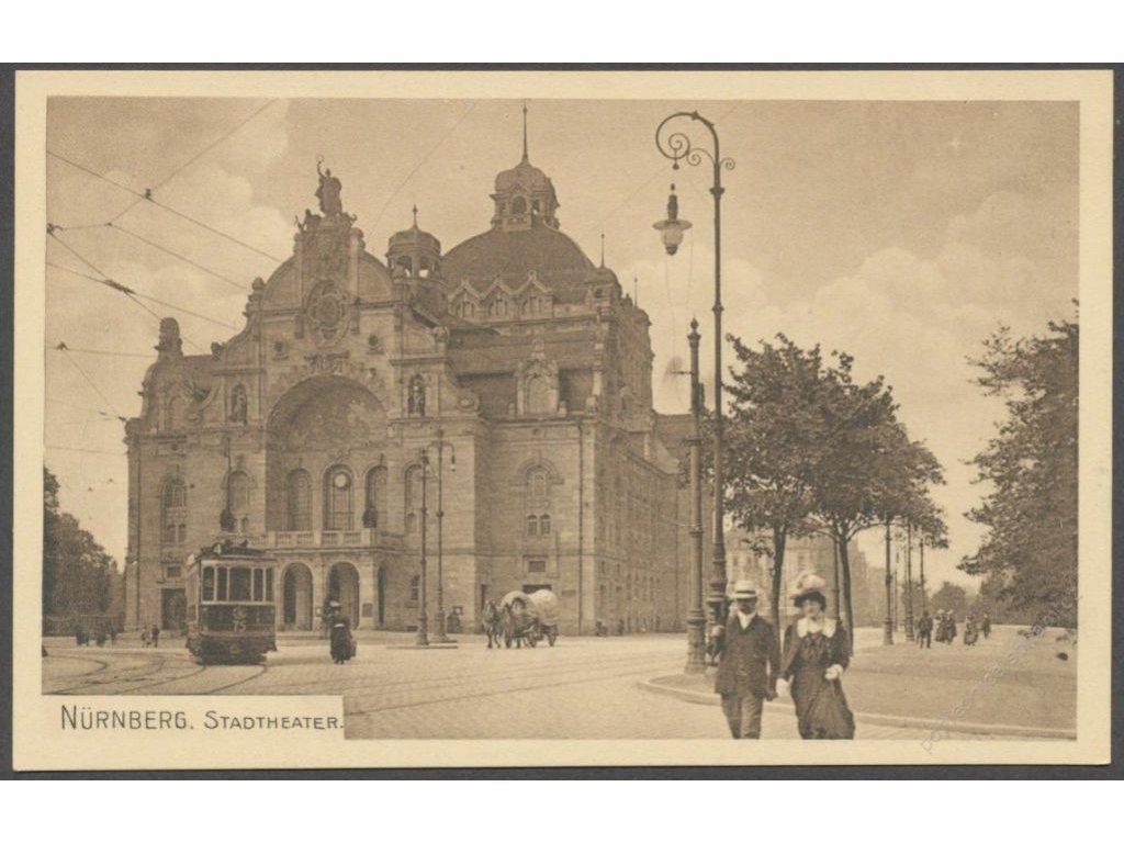 Germany, Bavaria, Nuremberg (Nürnberg), City theater, cca 1908