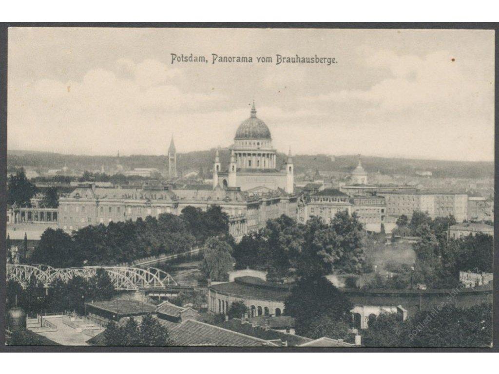 Germany, Brandenburg, Potsdam, panorama with St. Nicholas&apos! Church, cca 1908