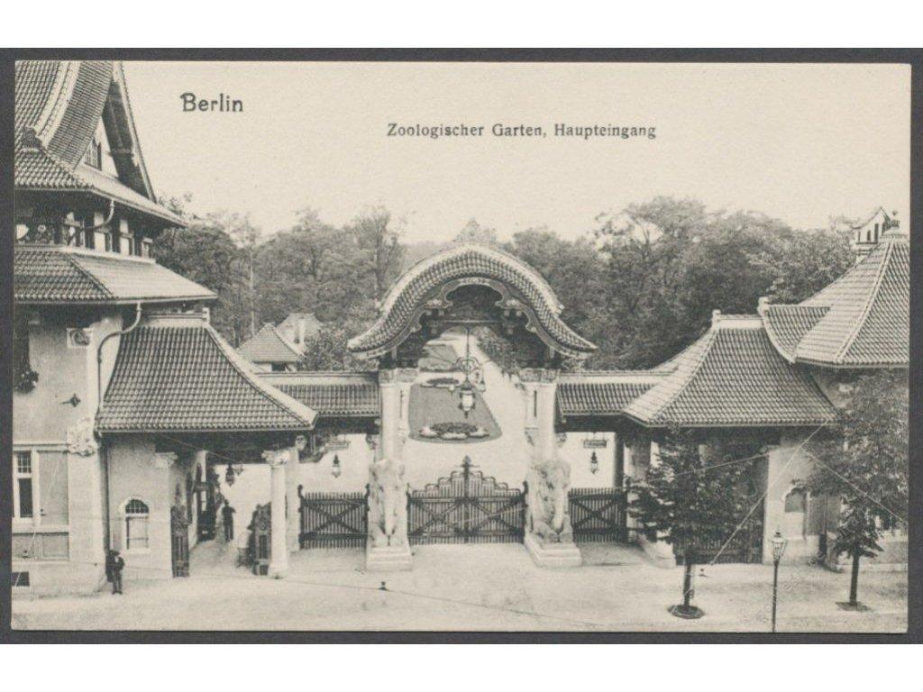 Germany, Berlin, main entrance of the Zoo, cca 1908