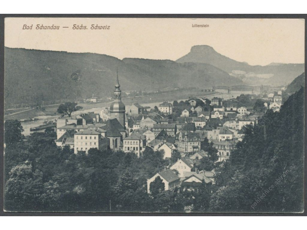 Germany, Bad Schandau, overview, publ. Schleich, cca 1910