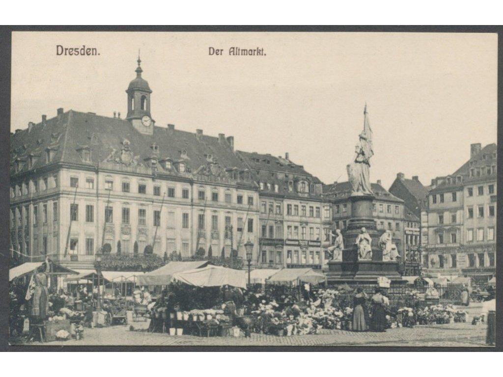 Germany, Dresden, Old Market, publ. Köhler, cca 1908