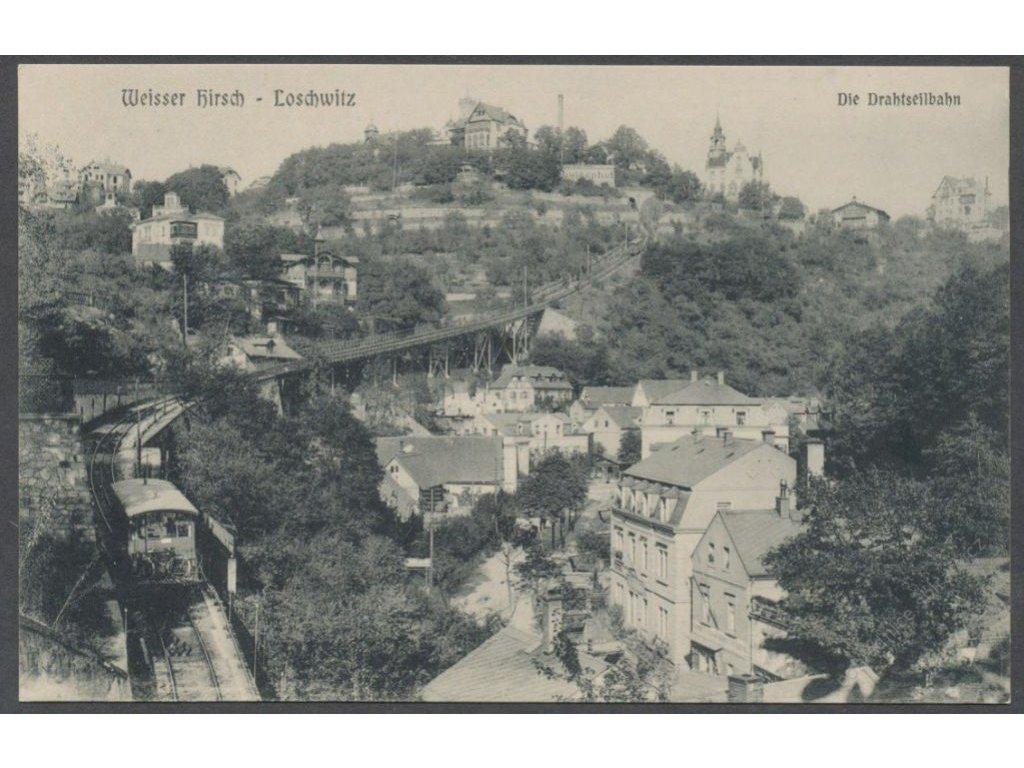 Germany, Dresden, Loschwitz, overview, publ. Köhler, cca 1906