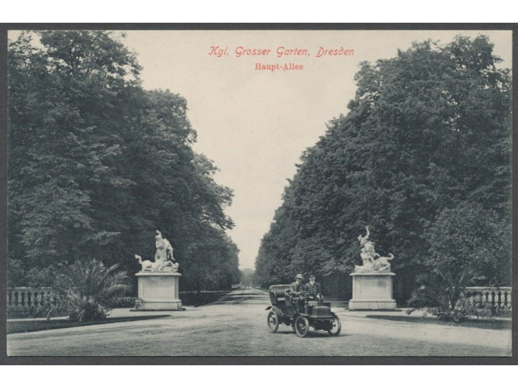 Germany, Dresden, Great Garden, main avenue, publ. Engler, cca 1908